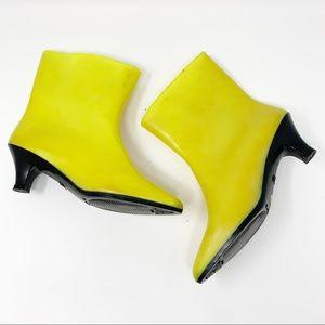 VTG Fiorucci Neon Heeled Rubber Boots